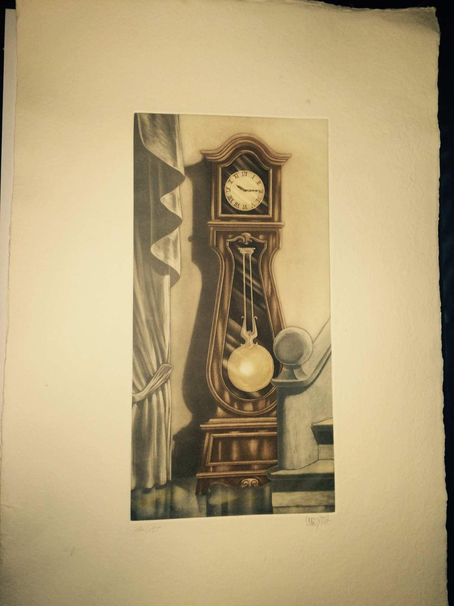 Reloj De Pie De Frente