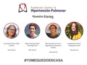 Equipo De Trabajo Y Patronato Fundación Contra La Hipertensión Pulmonar: Trabaja Al 100% En La Atención Psicosocial En La Crisis Sanitaria Del Coronavirus