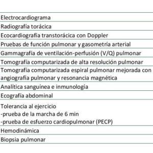 PRUEBAS DIAGNÓSTICAS DE LA HIPERTENSIÓN PULMONAR