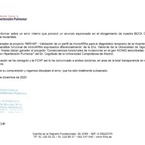 COMUNICADO OFICIAL FCHP