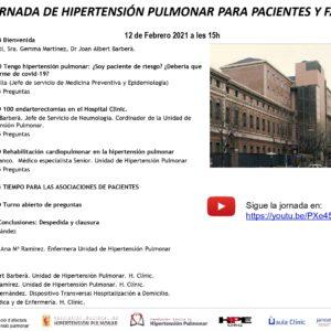XII JORNADA DE HIPERTENSIÓN PULMONAR PARA PACIENTES Y FAMILIAS